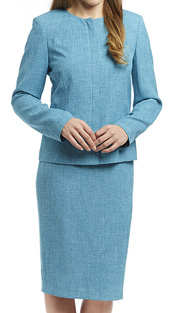 RF Studio 90647-TQ ( 2pc Renova Ladies Church And Career Suit With Tonal Texture Jacket With Skirt )