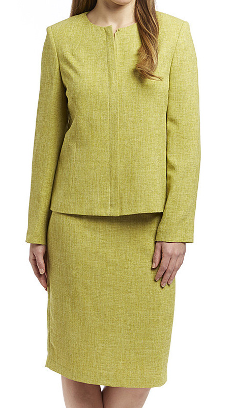 RF Studio 90647-KI ( 2pc Renova Ladies Church And Career Suit With Tonal Texture Jacket With Skirt )