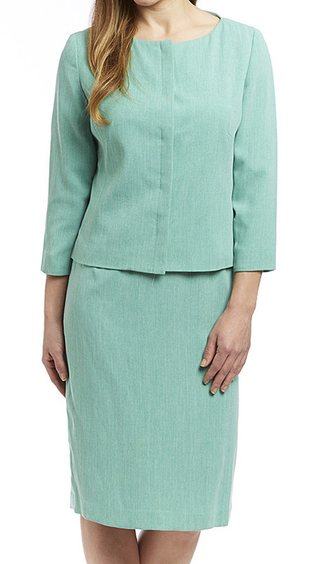 RF Studio 90651-SF ( 2pc Renova Ladies Church And Career Suit With Tonal Texture Jacket And Skirt )