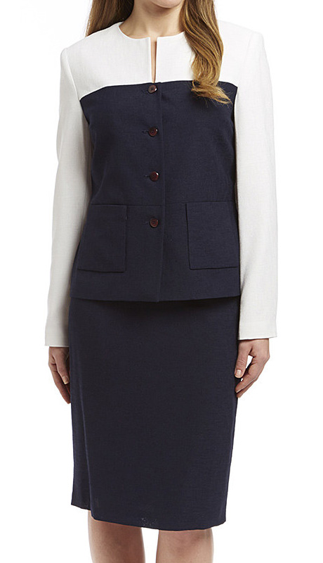 RF Studio 90656 ( 2pc Renova Ladies Church And Career Suit With Color Blocked Jacket With Skirt )