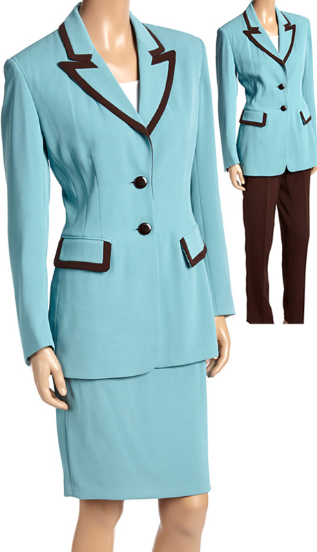 RF Studio 52401 ( 3pc Renova Ladies Career Suit Wardrobe With Jacket, Skirt And Pant )
