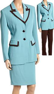 RF Studio 52401 ( 3pc Renova Ladies Career Suit Wardrobe With Jacket, Skirt And Pant )