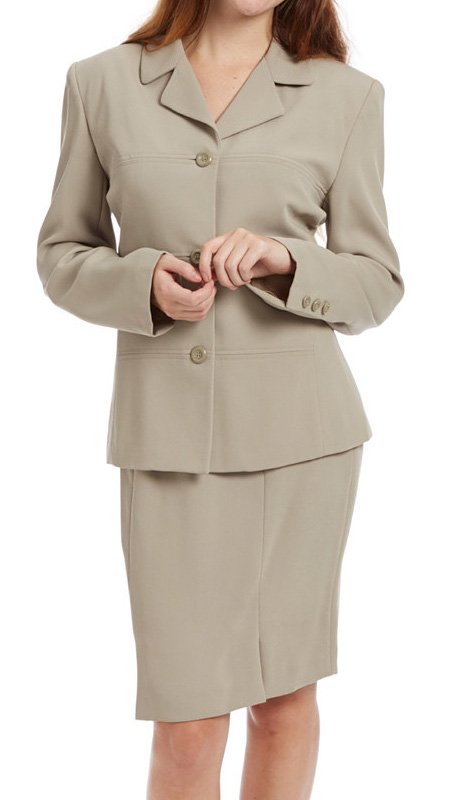 RF Studio 62801-TA ( 2pc Renova Ladies Career Suit With  Jacket And Skirt )