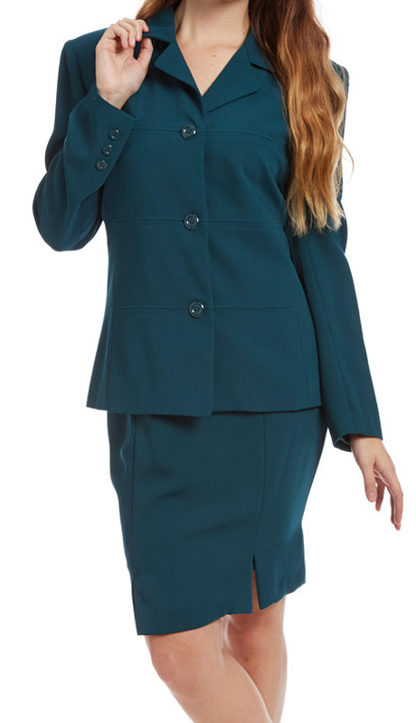 RF Studio 62801-TE ( 2pc Renova Ladies Career Suit With  Jacket And Skirt )
