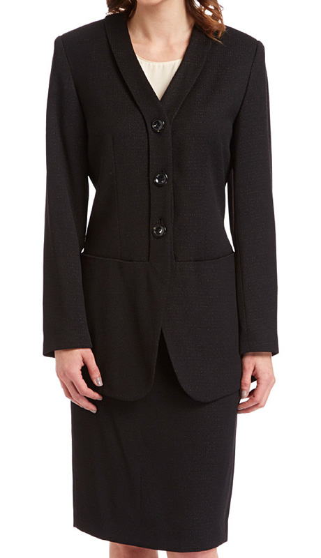 RF Studio 90011 ( 2pc Tweed Ladies Career Suit With Jacket And Skirt )