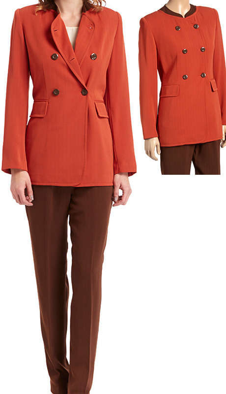 RF Studio 90050 ( 2pc Renova Ladies Career Suit With Double-Breasted Long Jacket And Pant )