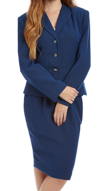 RF Studio 90259 ( 2pc Boucle Ladies Church And Career Suit With Tonal Texture Jacket And Skirt )