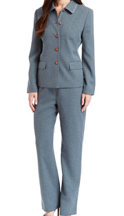 RF Studio 90737-TE ( 2pc Tweed Ladies Career Suit With Button Front Jacket And Pant )
