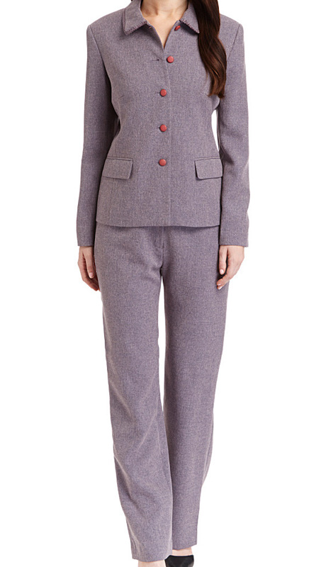 RF Studio 90737-WI ( 2pc Tweed Ladies Career Suit With Button Front Jacket And Pant )