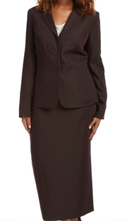RF Studio 90811-BR ( 2pc Renova With Iridescent Womens Church And Career Suit Jacket And Skirt )