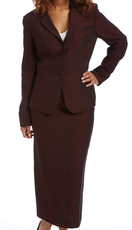 RF Studio 90811-CO ( 2pc Renova With Iridescent Womens Church And Career Suit Jacket And Skirt )