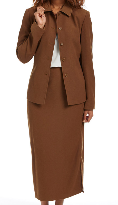 RF Studio 90837-CHE ( 2pc Moleskin Ladies Career Suit With Jacket And Skirt )
