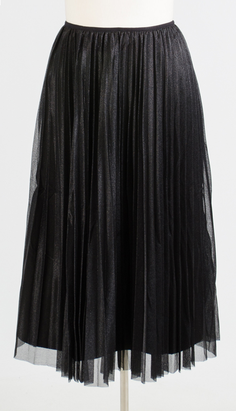 N By Nancy Collection AS0741-BK ( 1pc Shimmer Pleated Skirt )