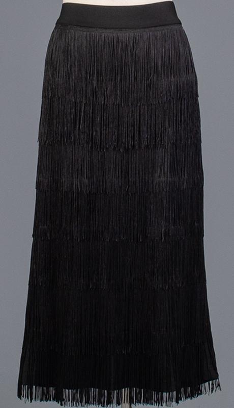 Rose Collection RC470-BK ( 1pc Fringe Skirt )