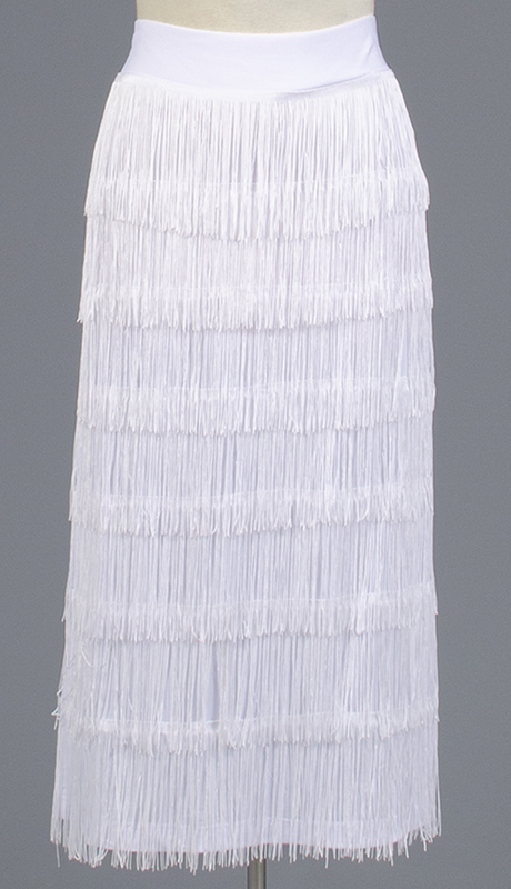 Rose Collection RC470-WH ( 1pc Fringe Skirt )