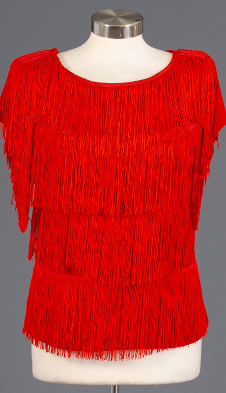 Rose Collection RC460-RE ( 1pc Sleeveless Fringe Top )