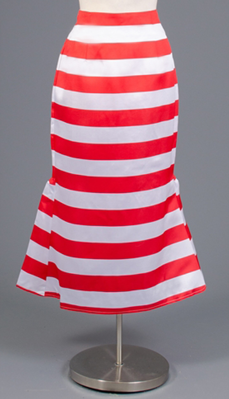 Rose Collection RC455-RE ( 1pc Striped Tea Length Skirt Skirt )