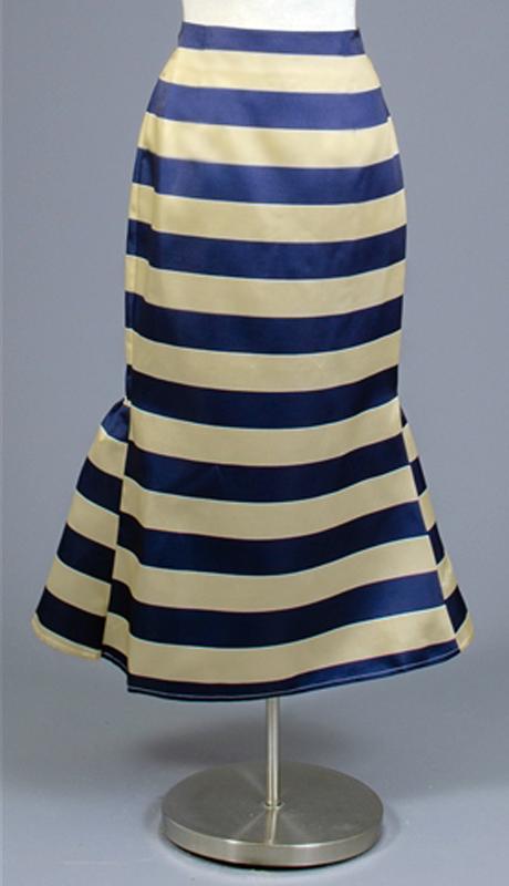 Rose Collection RC455-NA ( 1pc Striped Tea Length Skirt Skirt )
