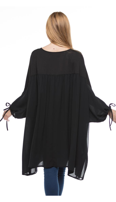 Why Collection T180076-BK ( 1pc Tunic Top )