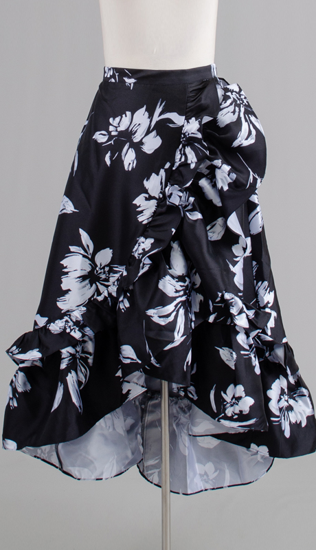 Rose Collection RC335-BW ( 1pc Tiered Hi Low Skirt )