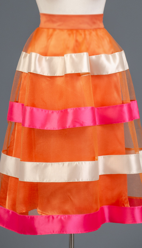 Rose Collection RC325-OR ( 1pc Stripe Tulle Skirt )