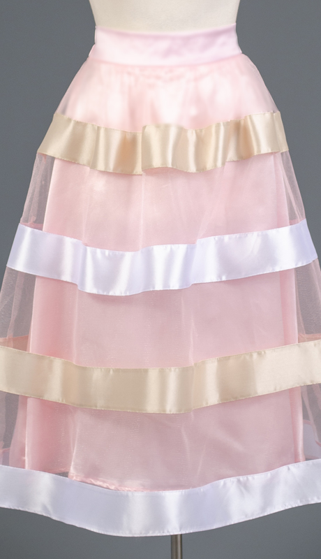 Rose Collection RC325-PI ( 1pc Stripe Tulle Skirt )