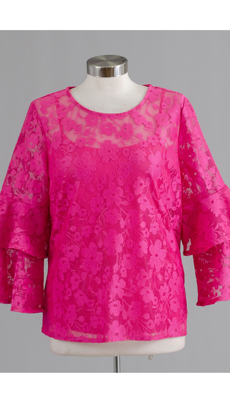 Rose Collection RC305-FU ( 2pc Flower Embroidered Top )