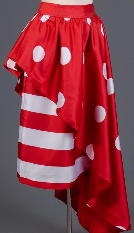 Rose Collection RC285-RW ( 1pc Stripe Polka Dot Combo Skirt )