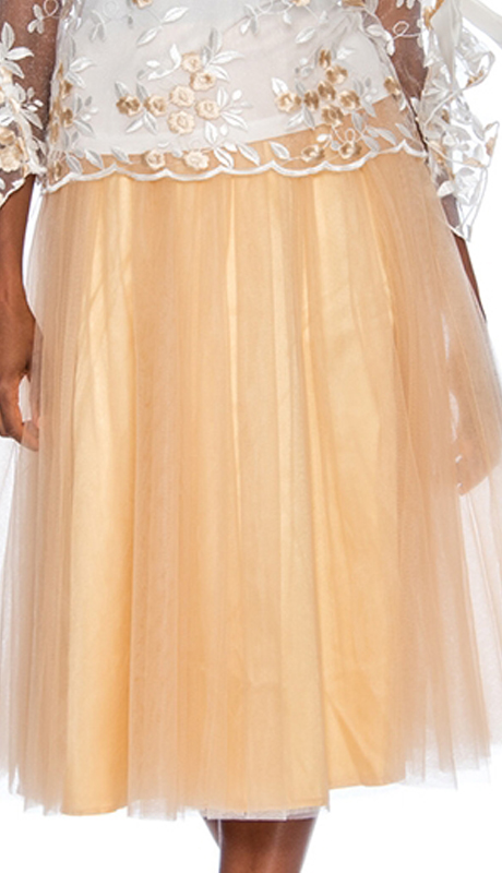 Rose Collection RC245-CH ( 1pc A-line Tulle Skirt )