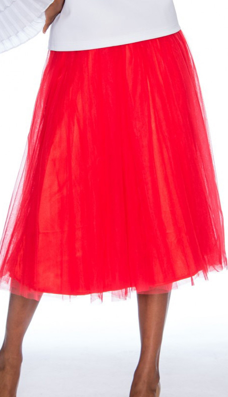 Rose Collection RC245-RE ( 1pc A-line Tulle Skirt )