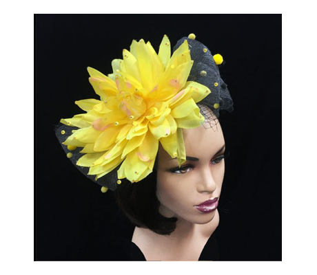 FA2281 Lotus ( Jewel Lotus Bloom Fascinator With Veil )