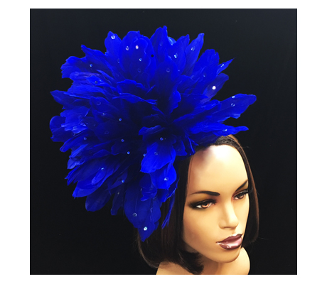 FA2280 Dazzle ( Fascinator With Fireworks Of Jewel Iridescent Coq Plumes )