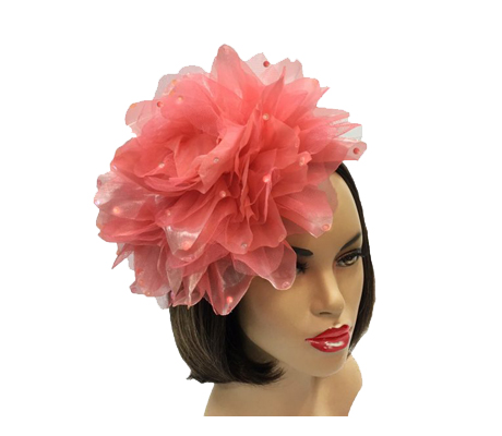 FA1705 Ian ( Oversized Shimmer And Organza Flower Fascinator )