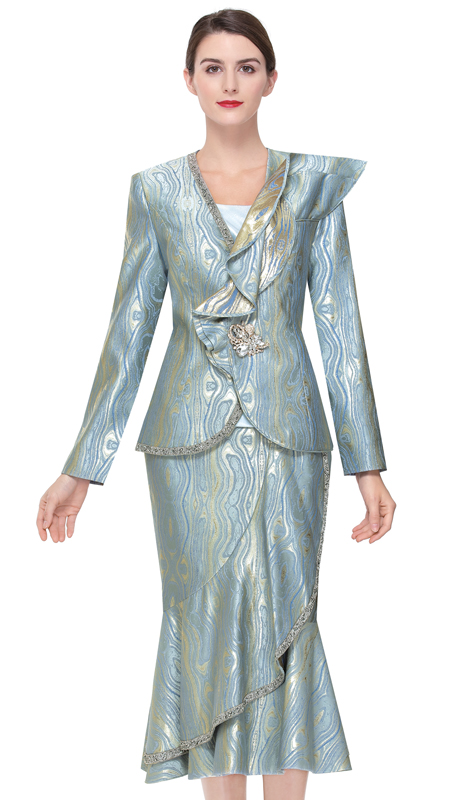 Serafina 3912-SM ( 3pc Novelty Ladies Sunday Suit )