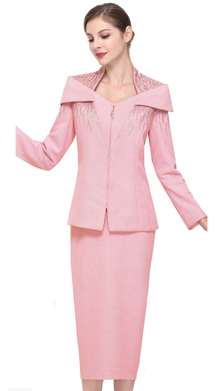 Serafina 805-MA-CO ( 2pc Knit Ladies Sunday Suit )