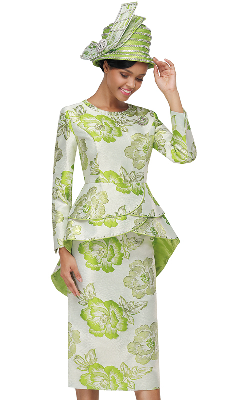Serafina 3913-LI ( 3pc Novelty Ladies Suit For Church )