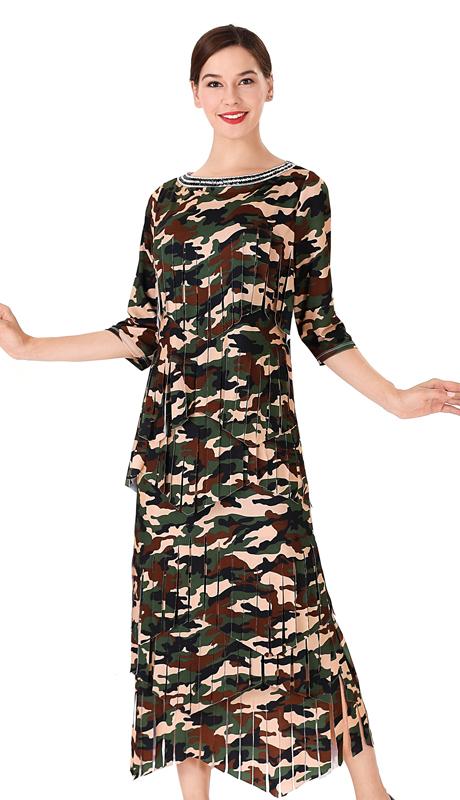 Serafina 467 ( 2pc Soft Stretch Ladies Dress )