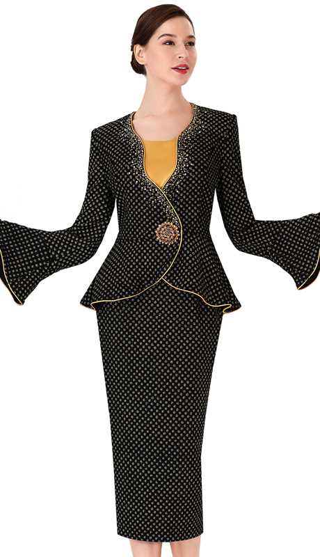 Serafina 3954-BY ( 3pc Novelty Ladies Suit For Church )
