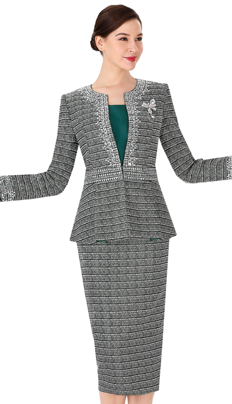 Serafina 3979-GM ( 3pc Novelty Ladies Sunday Suit )