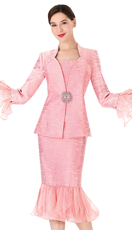 Serafina 3433 ( 2pc Metallic First Ladies Suit For Church )