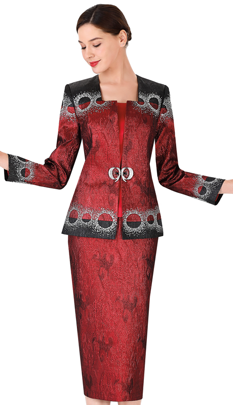 Serafina 3956 ( 3pc Brocade Suit For Church )