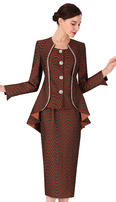 Serafina 3958 ( 3pc Novelty Ladies Suit For Church )