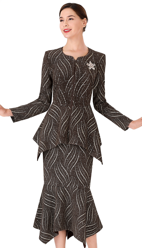 Serafina 3961-MO ( 2pc Novelty Ladies Suit For Church )