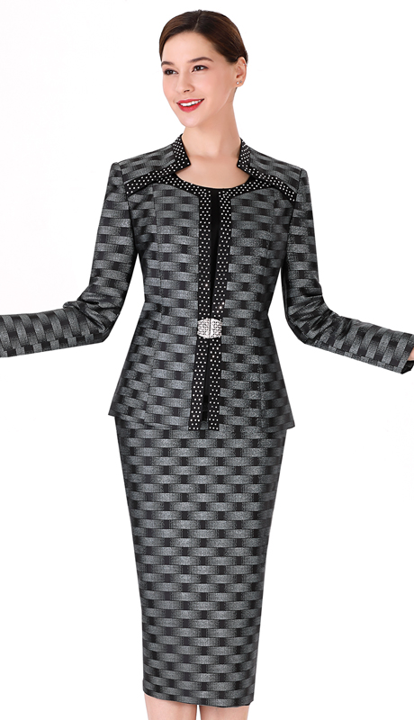 Serafina 3723-BM ( 3pc Novelty Ladies Suit For Church )