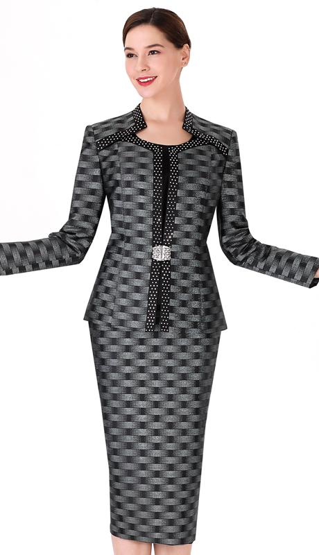 Serafina 3723-BM-CO ( 3pc Novelty Ladies Suit For Church )