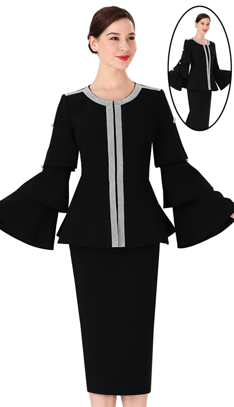 Serafina 3965 ( 2pc PeachSkin Ladies Suit For Church )