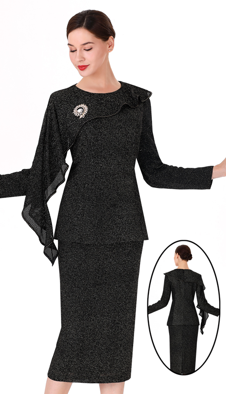 Serafina 3977-GB-CO ( 3pc Novelty Ladies Suit For Church )