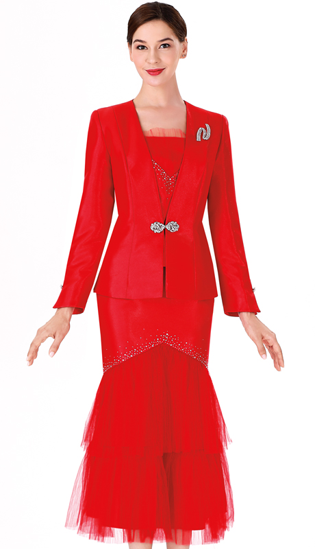 Serafina 3972 ( 3pc Novelty Ladies Suit For Church )