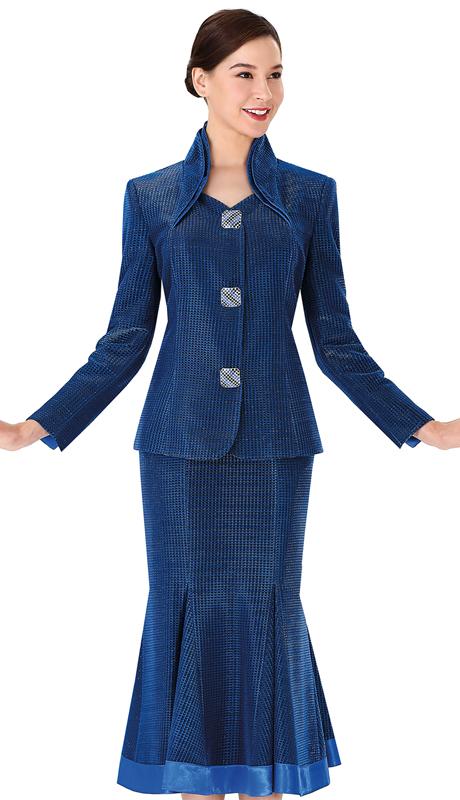 Serafina 3953 ( 2pc Metallic Sunday Suit For Church )
