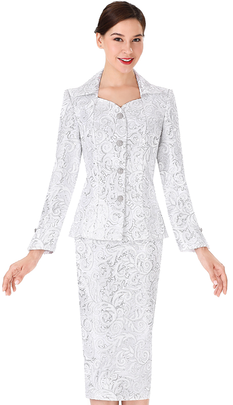 Serafina 3971-WS ( 2pc Lace Ladies Suit For Church )